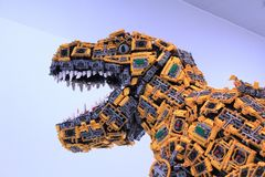 Free A Dinosaur Built Of Lego Blocks In The House Of Lego, Billund In Denmark Royalty Free Stock Photography - 158279077