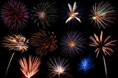A Display Of Fireworks Stock Photography