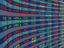 A Display Panel Of Daily Stock Market Stock Photography