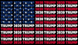 Free A Donald Trump 2020 Text Illustration Design Aligned With The Red, White And Blue Stars And Stripes Of The American Flag Stock Photos - 186580153