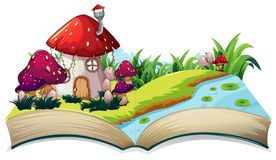 Free A Fairy Tale House On Open Book Stock Photo - 134898460