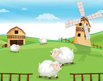 Free A Farm At The Hills With Sheeps Stock Photos - 38778033