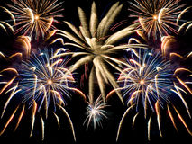 A Fireworks Collage Royalty Free Stock Photos
