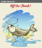 A Fish Getting Caught Royalty Free Stock Image