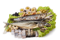 A Fish Set With Vegetables Stock Images