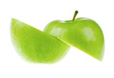 A Fresh Cutted Apple Stock Photography