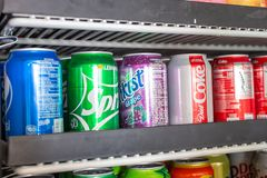 Free A Fridge Full Of Soda Cans Stock Images - 156791824