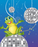 A Frog Sitting On A Disco Light Stock Photo
