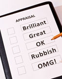A Fun Performance Appraisal Form Stock Images