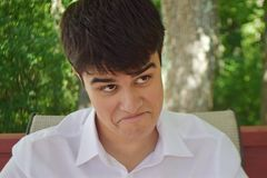 A Funny Face Of A Cute Teen Royalty Free Stock Image