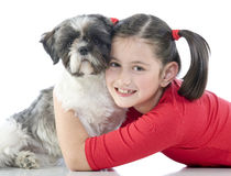 A Girl And Her Dog Royalty Free Stock Images