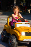 A Girl Drivin Royalty Free Stock Photography