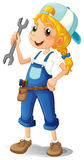 A Girl Holding A Tool Royalty Free Stock Images