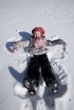 A Girl On Snow Stock Photography