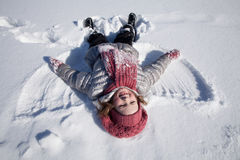 A Girl On Snow Royalty Free Stock Images