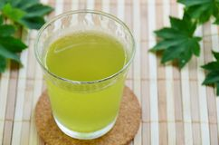 A Glass Of Green Tea Stock Photo