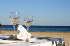A Glass Of The Sea And Sun Stock Photos