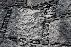 Free A Gray Stone Wall Texture With Light On One Side Stock Images - 97896124