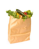 A Grocery Bag Full Of Healthy Vegetables Royalty Free Stock Image