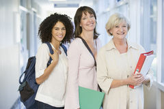 Free A Group Of Adult Students With Backpacks Standing Stock Photography - 7035372
