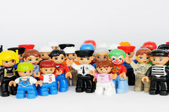 A Group Of Lego Brand Duplo Figures Royalty Free Stock Photo