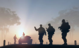 Free A Group Of Soldiers Royalty Free Stock Image - 27718846