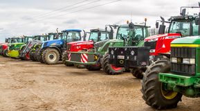 Free A Group Of Tractors Parked Up Royalty Free Stock Photo - 70573245