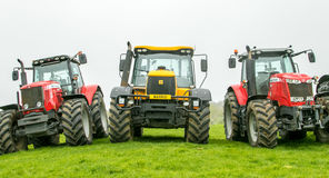 Free A Group Of Tractors Parked Up Stock Image - 90601481