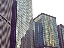 A Group Of Urban Business Building With Glass Wall Stock Images