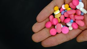 A Handful Of Pills Stock Photography