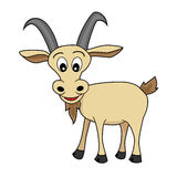 A Happy Looking Cartoon Goat Royalty Free Stock Photography