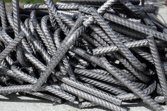 Free A Heap Of Bent Division Rebar - Curved Steel Reinforcement Bars At A Construction Site Royalty Free Stock Photos - 93463628