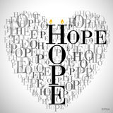 A Heart Made Of Words HOPE Royalty Free Stock Image