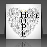 A Heart Made Of Words HOPE Stock Photos