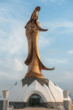 A High Bronze Statue Of Kun Iam In Macau Stock Photography