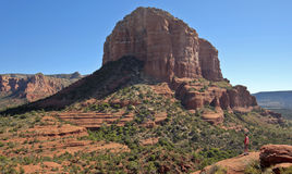 A Hiker Takes In The View On Bell Rock Trail Royalty Free Stock Photography