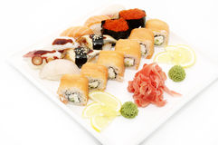 A Huge Plate Of Sushi Royalty Free Stock Photo