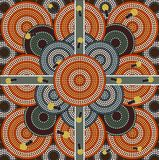 A Illustration Based On Aboriginal Style Of Dot Painting Depicting Honey Ants Royalty Free Stock Photography