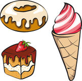 A Illustration Set Of Desserts Royalty Free Stock Photography