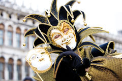 A Joker At The Venice Carnival Stock Photo
