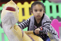 Free A Kiddie Dinosaur Ride At T-Rex Planet, Tucson Expo Center Stock Photo - 87792870