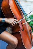 A Lady Playing On A Violin Stock Photos