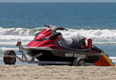 A Lifeguard Rescue Personal Watercraft (PWC) Stock Image