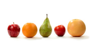 A Line Of Fruit Stock Photography