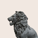 A Lion Statue Cutout As Design Element Royalty Free Stock Image