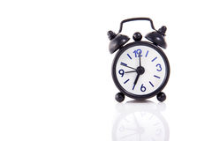 A Little Black Alarm Clock Stock Photos