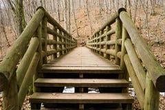 A Log Footbridge Stock Photo