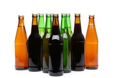 A Lot Of Bottles Of Beer Royalty Free Stock Photo