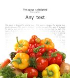 A Lot Of Different Juicy And Tasty Vegetables Royalty Free Stock Photography