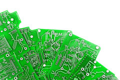 Free A Lot Of Green PCB On White Stock Photos - 79453633